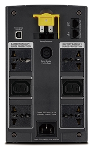 APC Back-UPS 1400VA, 230V, AVR, Universal and IEC Sockets (BX1400U-MS)